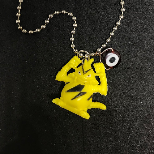 Electabuzz Necklace with Glass Pokeball Charm