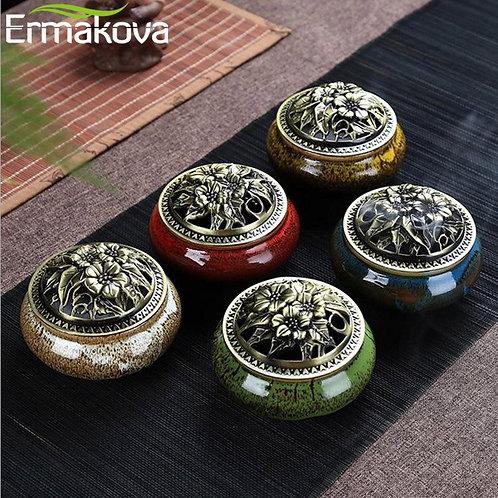 Ceramic Incense Burner For cones and Coils