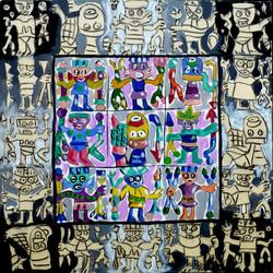 RIOU Mayas 2011. acryl sur toile.115x115.JPG