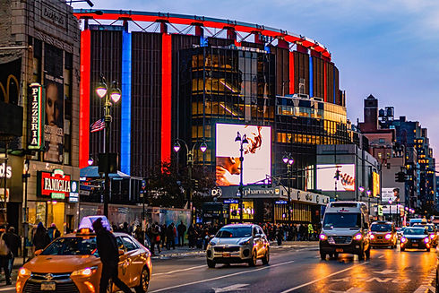 Madison Square Garden. 10 mins walk from Wolcott Hotel