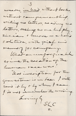 Letter Mr. Clemens wrote from the Wolcott hotel to Frank Seaman.