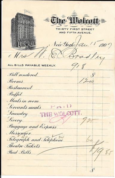 Bill from 1907