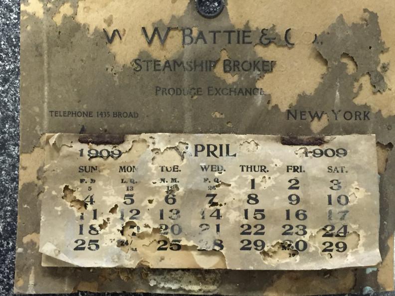 Calendar from 1909
