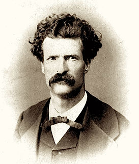 Mark Twain, famous guest at Wolcott Hotel
