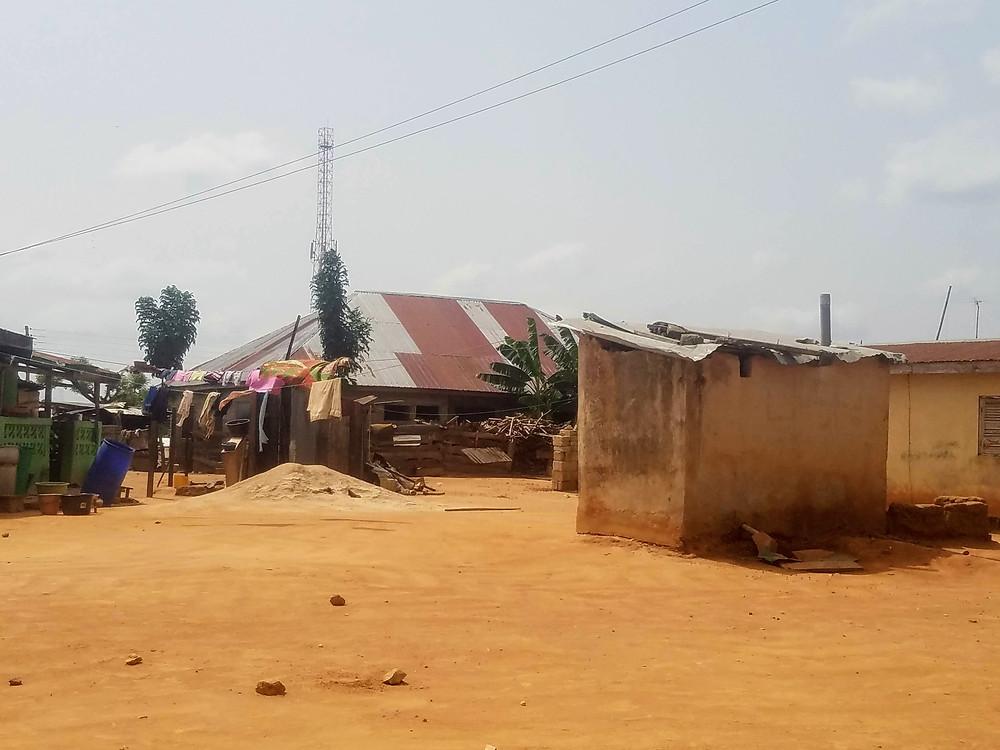 A VIP pit latrine in rural Ghana