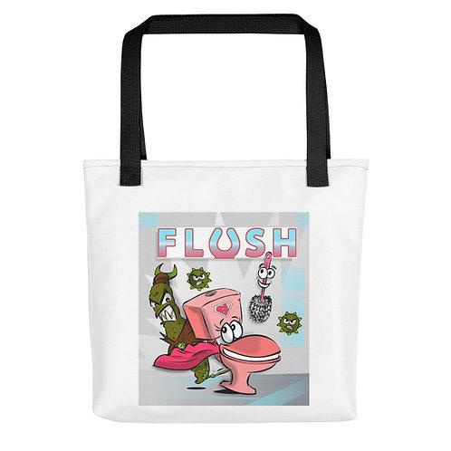 FLUSH Cartoon Cast Tote bag