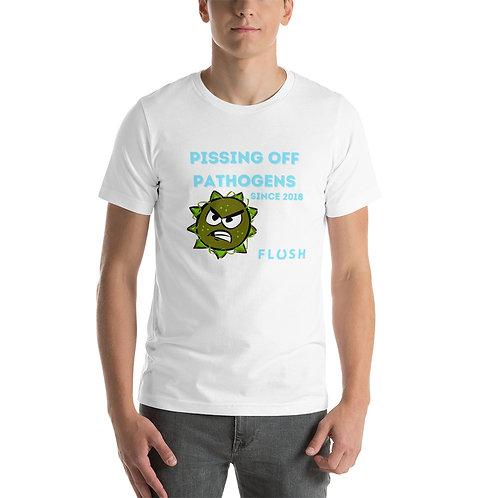 Pathogens Kurzarm-Unisex-T-Shirt abpissen