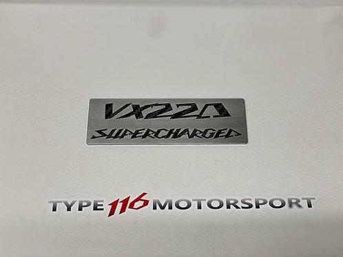 Z22SE Coilpack Badge - VX220 Supercharged