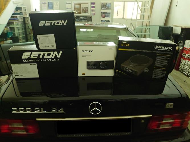 Setup Sony RSG- GS9 Media Player ETON MAS 160 Speakers  ETON Stealth 7.1 DSP Amplifier  Helix U10 A Active Subwoofer