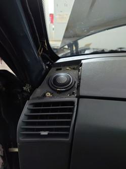 ETON Tweeter is mounted on customised MDF speaker baffle