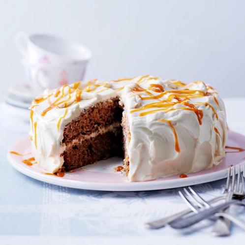 Apple Walnut Caramel Cake |Klein