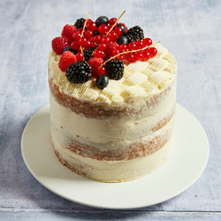 Semi-Naked Birthday Cake with Berries