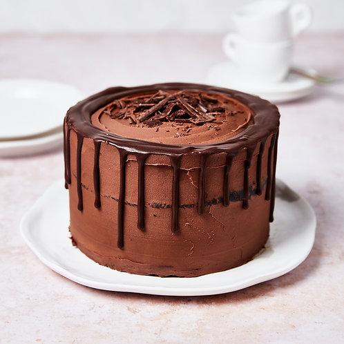 Chocolate Drip Cake | vegan