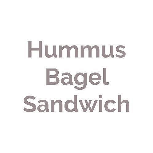 Hummus Bagel Sandwich |vegan
