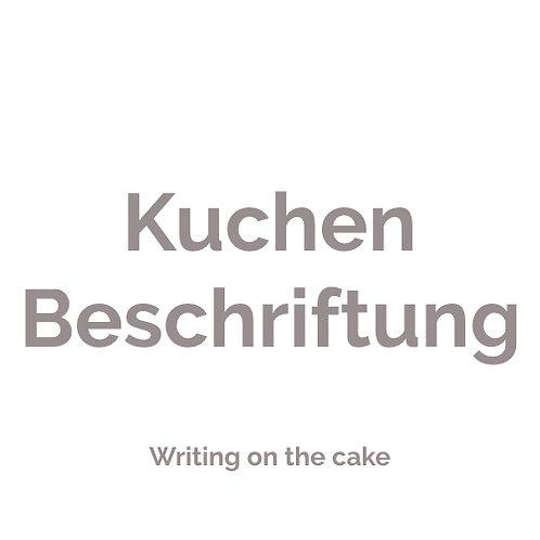 Individuelle Kuchenbeschriftung