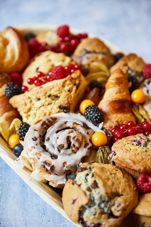 Frühstücks-Gebäckplatte