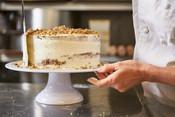 Apple Walnut Caramel Cake