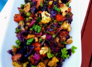 Rainbow Cabbage Stir Fry