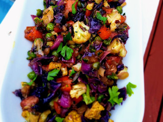 Rainbow Cabbage Stir Fry