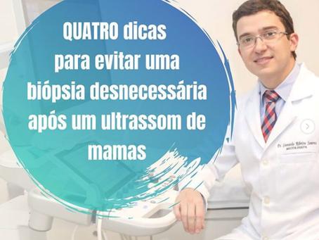 """Quatro dicas para evitar uma biópsia """"desnecessária"""" após um ultrassom de mamas"""