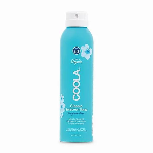 Classic Body SPF 50 Fragrance Free Sunscreen Spray 6oz