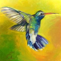 Hummingbird, 12x12, Oils on Panel