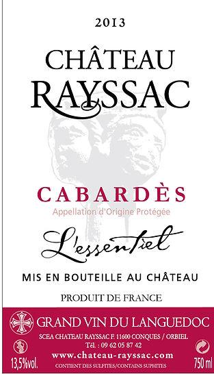 Bouteille de vin de Cabardès 2009 cuvée l'Essentiel