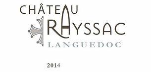étiquette de bouteille de vin rouge d'A.O.P Languedoc 2014