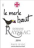 Etiquette Vin de Pays d'Oc 2014, Vignoble du Languedoc Cabardès