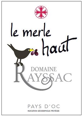 étiquette de bouteille de vin de Pays d'OC Domaine Rayssac 2015
