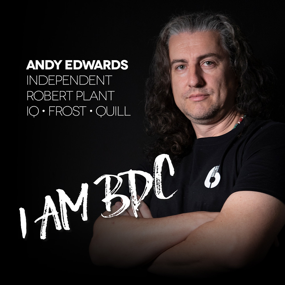 Andy Edwards Joins British Drum Co BDC Robert Plant IQ Frost Quill