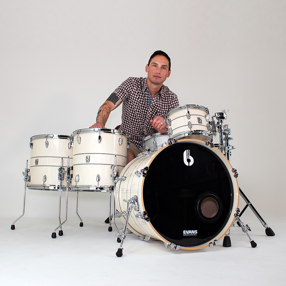 Rob Rolfe Joins British Drum Co Legend Drum Kit BDC Enter Shikari