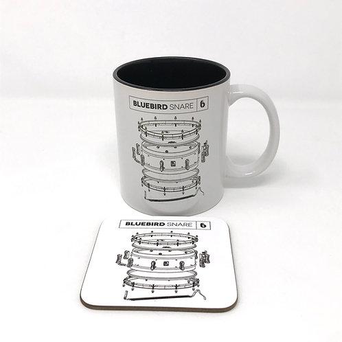 BDC Bluebird Mug & Coaster Set