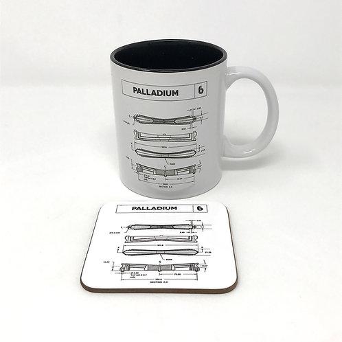 BDC Palladium Lounge Lug Mug & Coaster Set
