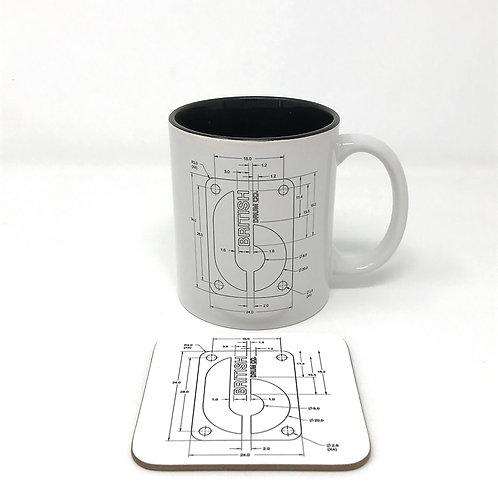 BDC Badge Mug & Coaster Set