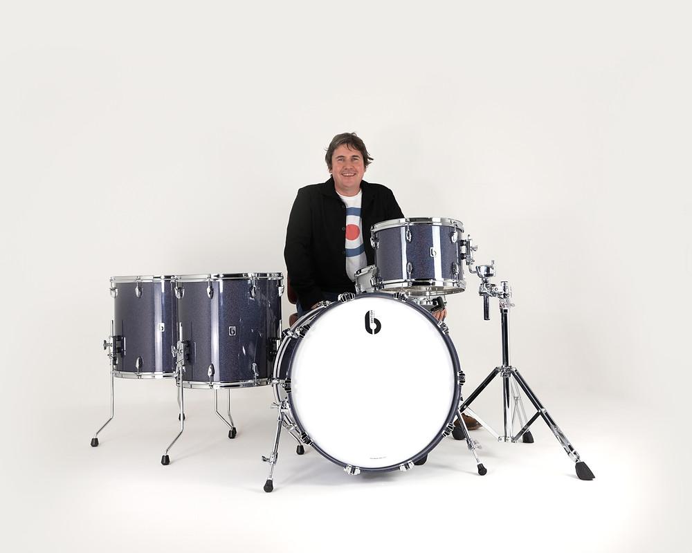 Jim McDermott Joins British Drum Co BDC Legend Drum Kit Del Amitri Kylie Miniogue Simple Minds