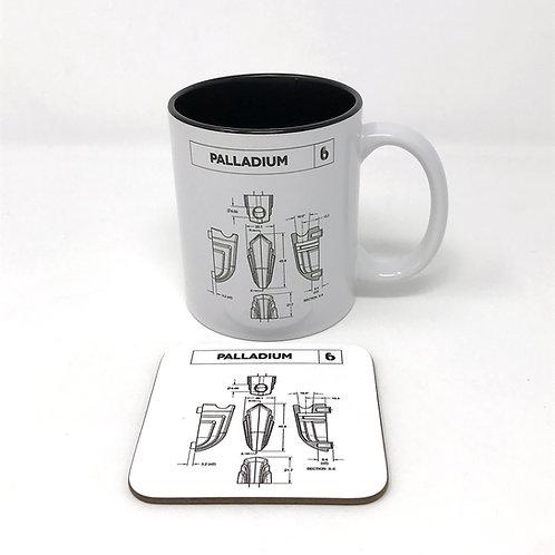 BDC Palladium Legend Lug Mug & Coaster Set