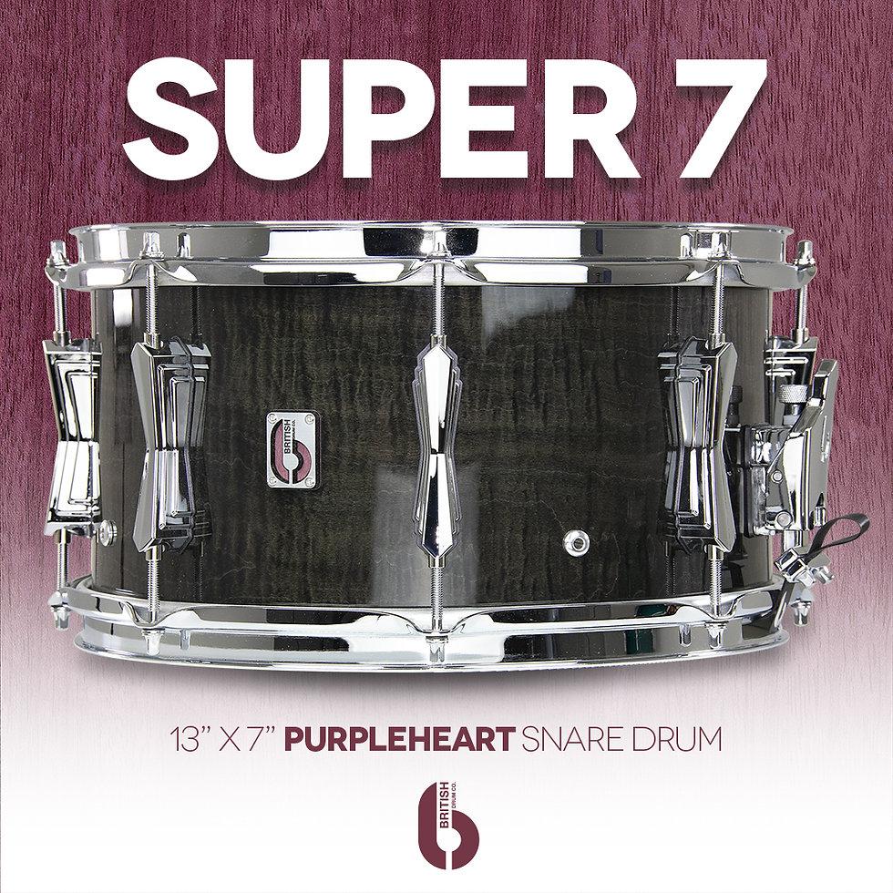 British Drum Co. BDC Super 7 Snare Drum