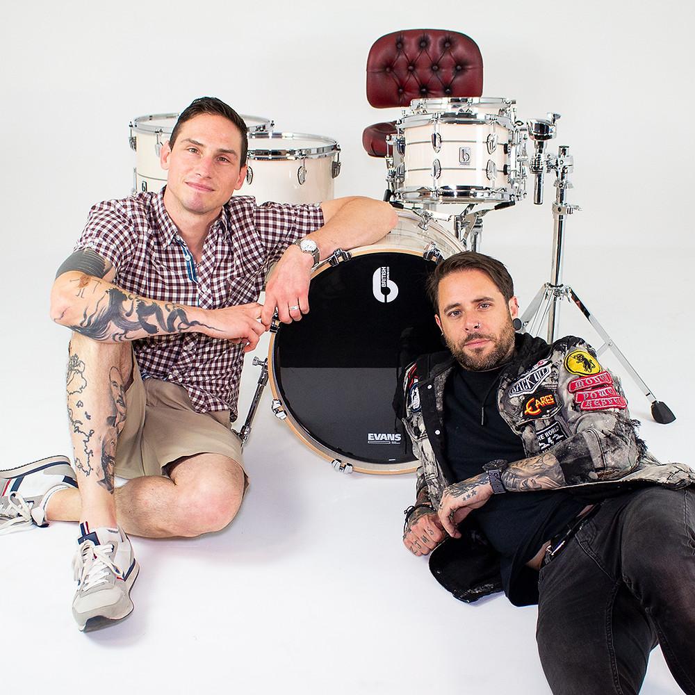 Rob Rolfe Joins British Drum Co Legend Drum Kit BDC Enter Shikari Mel Stewart