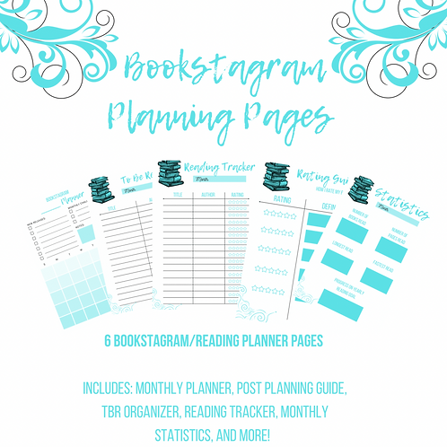 Bookstagram Planning Pages (Blue)