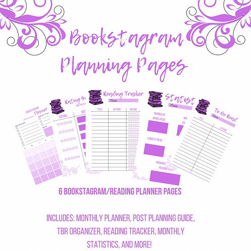 Bookstagram Planning Pages (Purple)