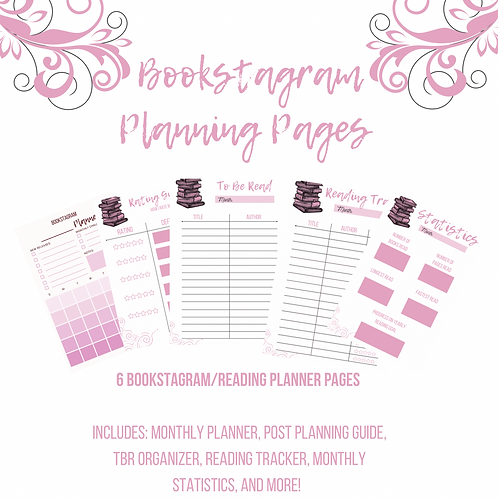 Bookstagram Planning Pages (Pink)