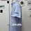 Camisas oxford k. azul celeste costado