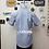 Camisas oxford k. azul celeste espalda