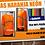 Playeras naranja neon mod. 19 postal