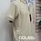 Playeras polo color hueso #15 mod. pie de cuello oxford marino frontal