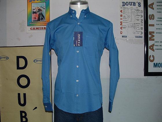 Camisas Color Azul Francia