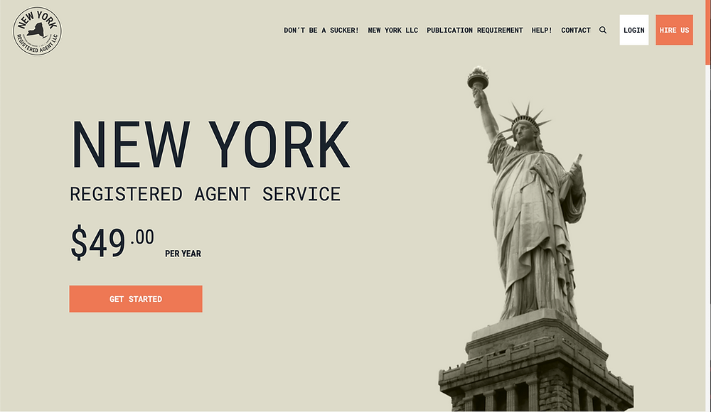 State of New York's Registered Agent Website