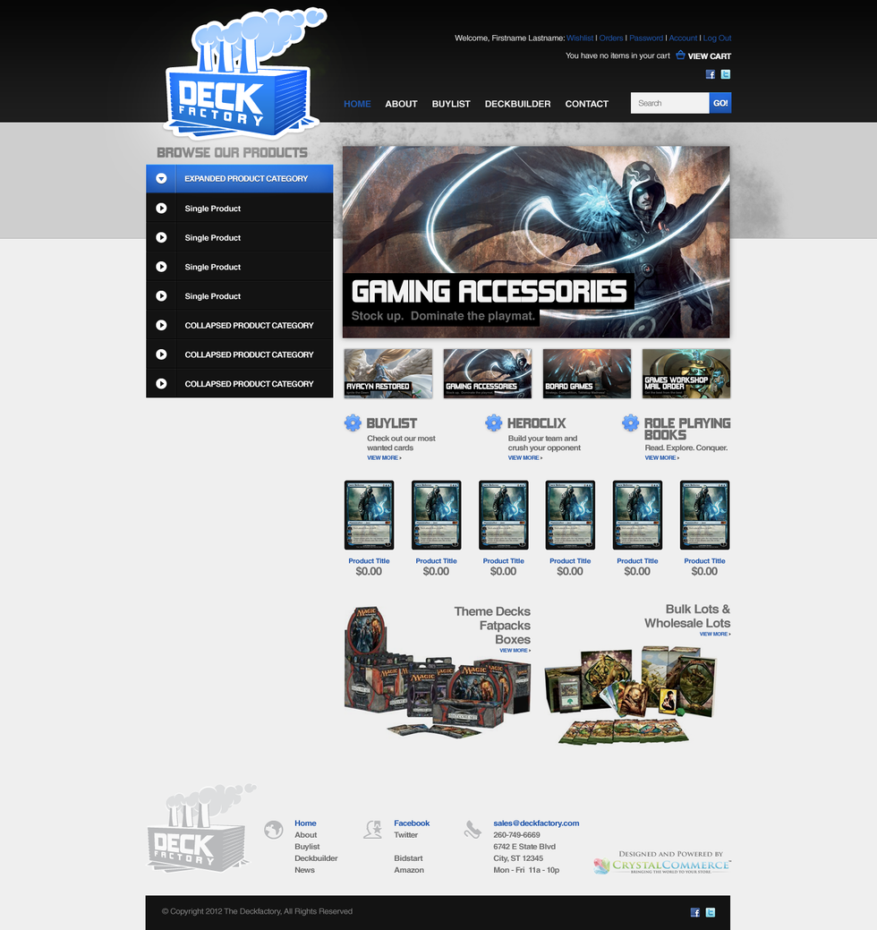 Deck Factory Home Page