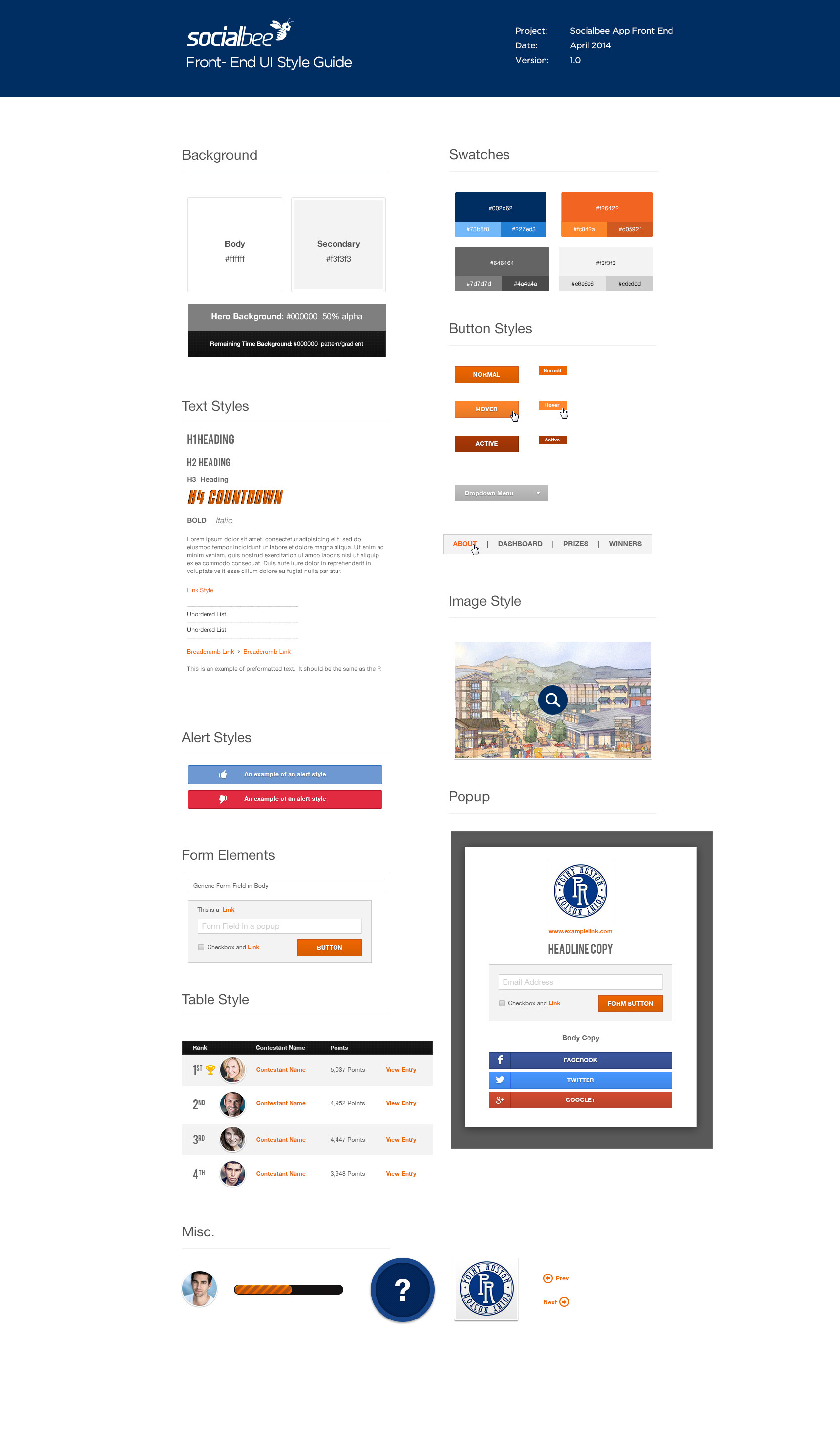SocialBee Business Site UI Components